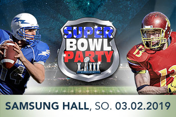 Super Bowl Party Banner 355x236 mit